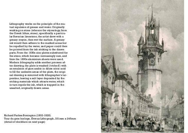 Richard Parkes Bonington (1802-1828) Tour du gros horloge, Évreux Lithograph, 331mm x 245mm (detail of clockface on next p...