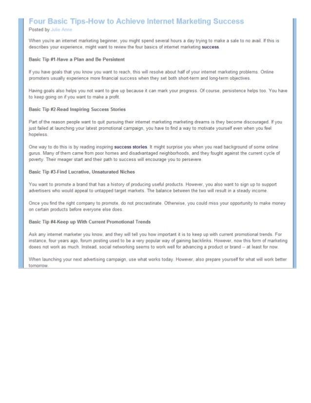 Screenshot1  -- Four Basics of Internet Marketing