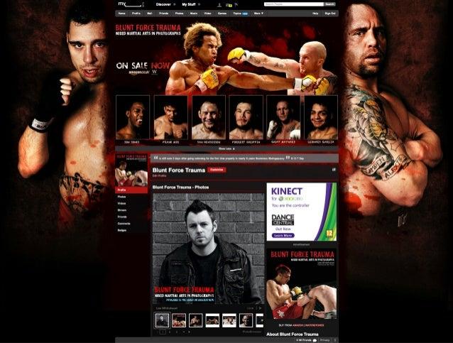 Blunt Force Trauma Myspace Layout - MMA Book