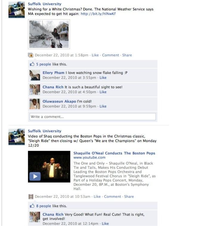 Suffolk University's Social Voice: Facebook