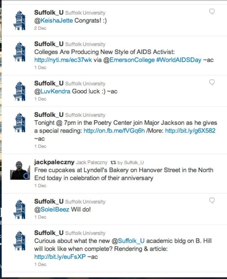 Suffolk University Social Voice: Twitter