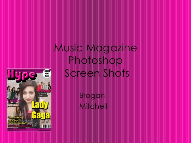 Music Magazine  Photoshop Screen Shots    Brogan    Mitchell