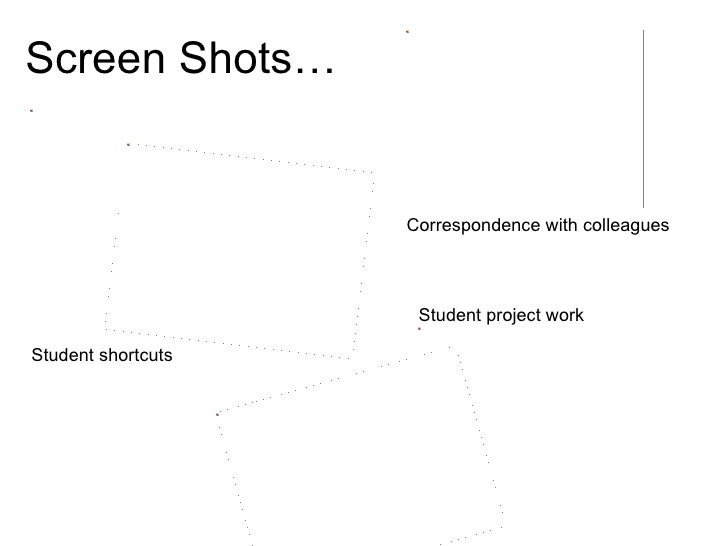 Screen Shots… Student shortcuts Correspondence with colleagues Student project work