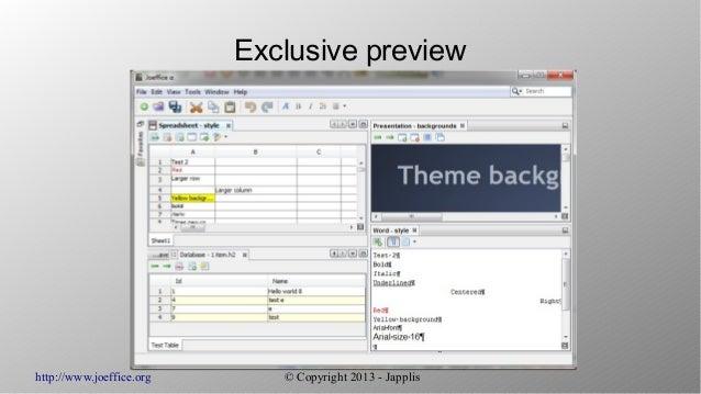Joeffice, day 28: the screenshots Slide 2