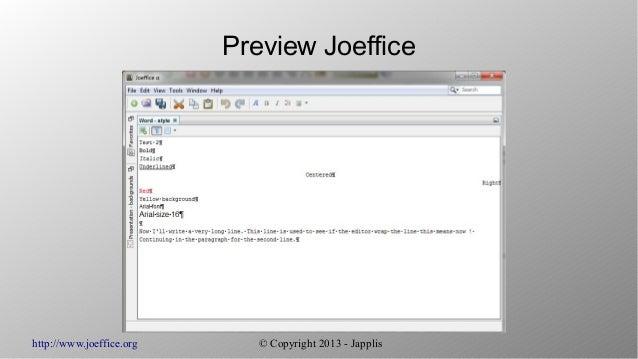 Joeffice, day 28: the screenshots Slide 3