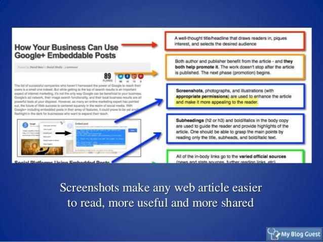 Screenshots as Part of Your Visual Content Marketing Slide 3