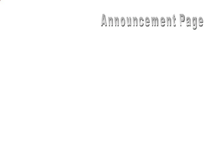 Announcement Page