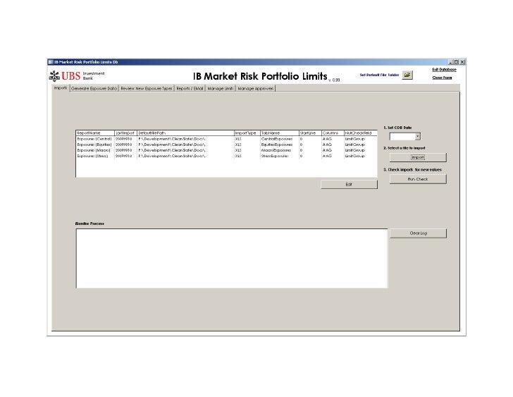Screenshots - UBS-IB Portfolio Limits Db