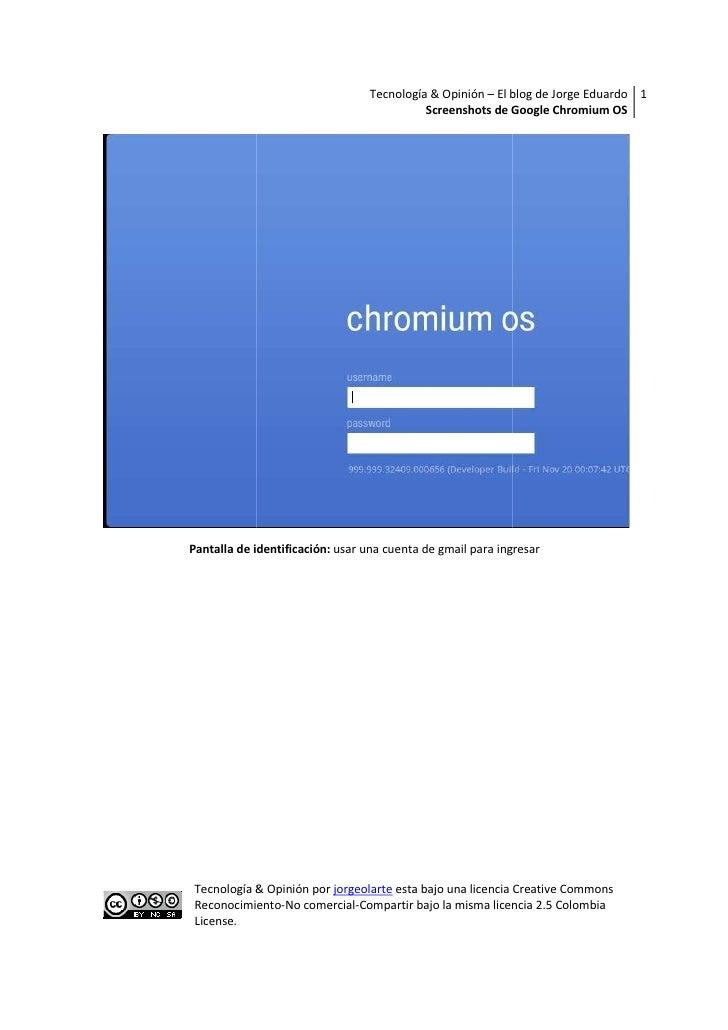 Tecnología & Opinión – El blog de Jorge Eduardo 1                                            Screenshots de Google Chromiu...