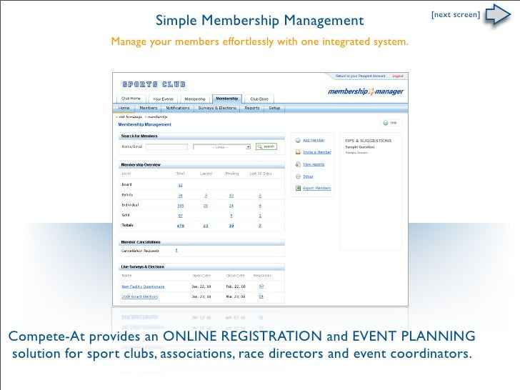 [next screen]                           Simple Membership Management                  Manage your members effortlessly wit...