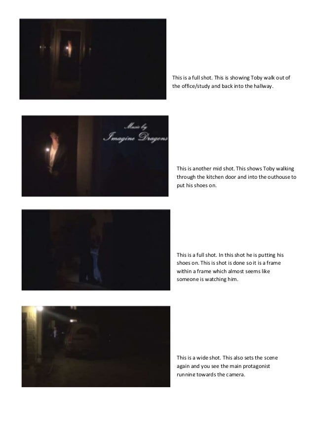 Screenshots of each shot