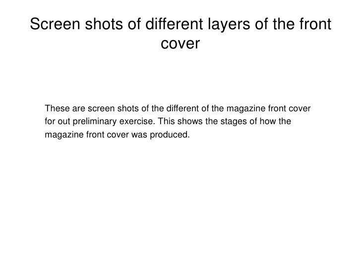 Screen shots of different layers of the front cover<br />These are screen shots of the different of the magazine front cov...