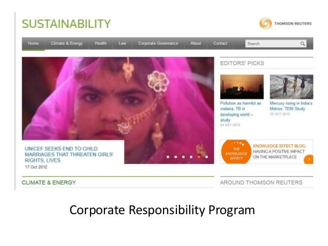 Corporate Responsibility Program