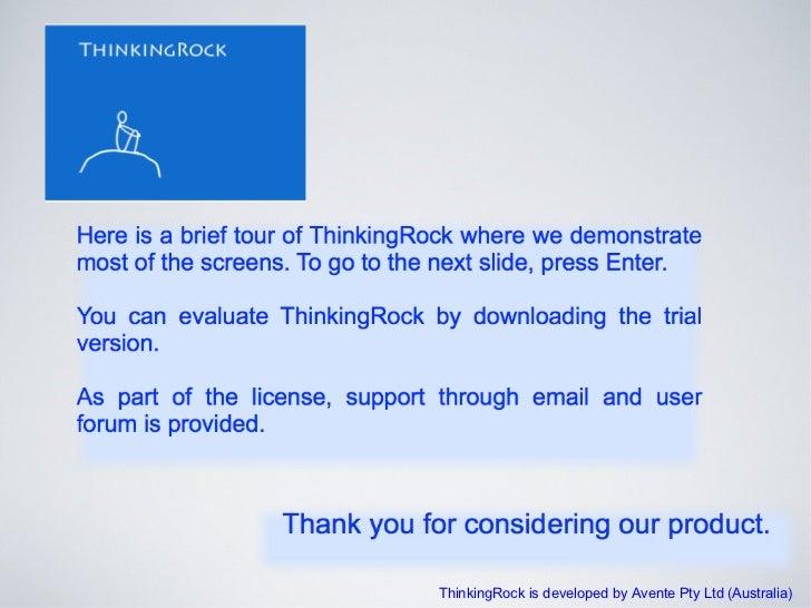 ThinkingRock is developed by Avente Pty Ltd (Australia)