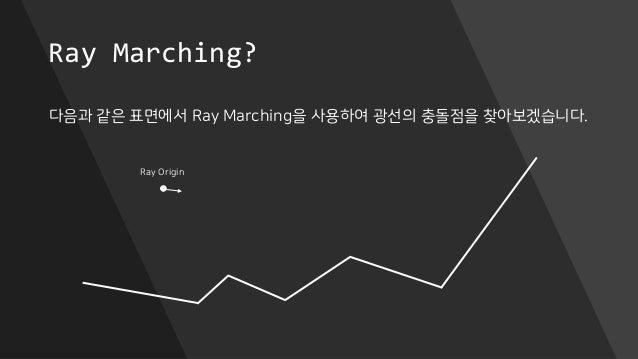 Ray Marching? 다음과 같은 표면에서 Ray Marching을 사용하여 광선의 충돌점을 찾아보겠습니다. Ray Origin