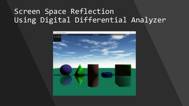 Screen Space Reflection Using Digital Differential Analyzer