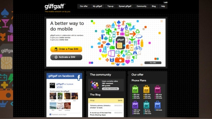 GIFFGAFF VALUE EXCHANGEGOOD + EXPERIENCE + STUFF
