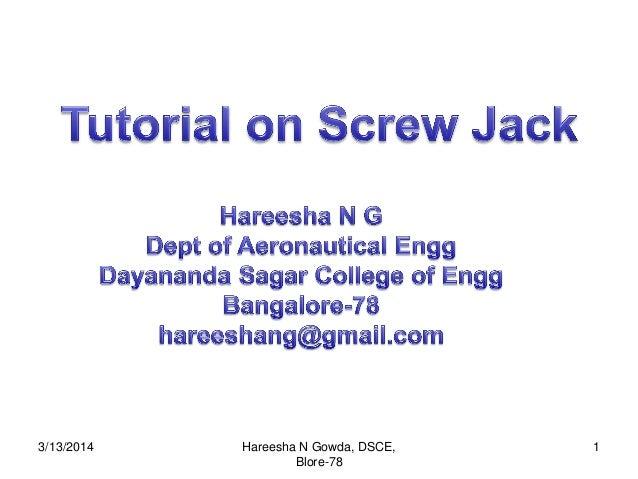 3/13/2014 1Hareesha N Gowda, DSCE, Blore-78