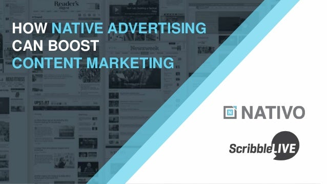 HOW NATIVE ADVERTISING CAN BOOST CONTENT MARKETING