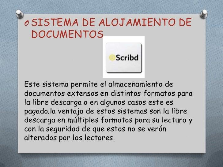 SISTEMA DE ALOJAMIENTO DE DOCUMENTOS <br />Este sistema permite el almacenamiento de documentos extensos en distintos form...
