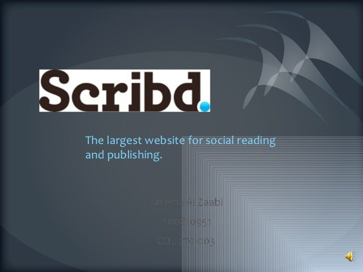 The largest website for social reading and publishing.