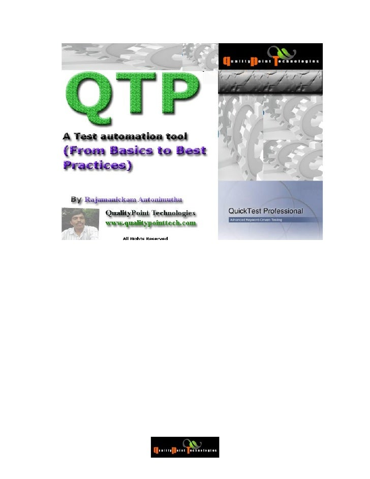 Introduction to QTP..........................................................................................................