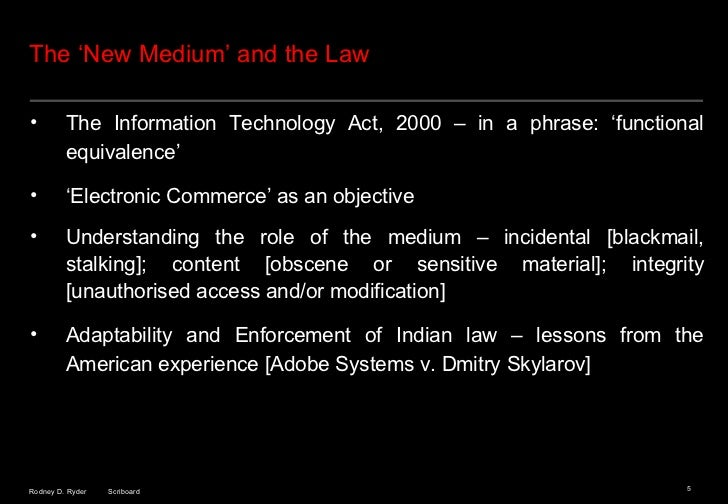 information technology law notes