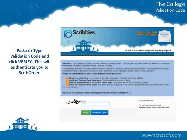 Uconnect Access App >> ScribOrder e-Transcripts