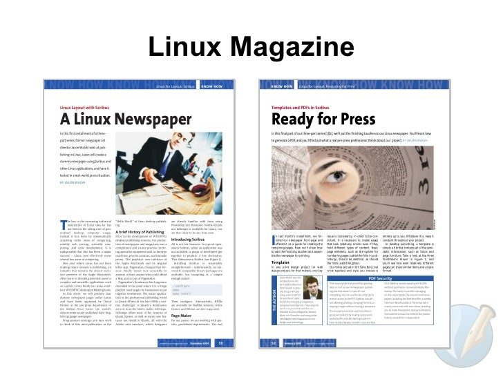 Adobe pagemaker pictures posters news and videos on for Scribus newspaper template