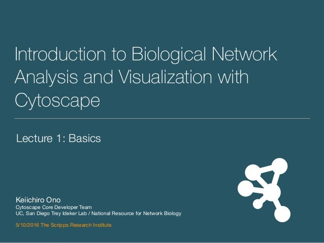 Introduction to Biological Network Analysis and Visualization with Cytoscape Keiichiro Ono  Cytoscape Core Developer Team ...