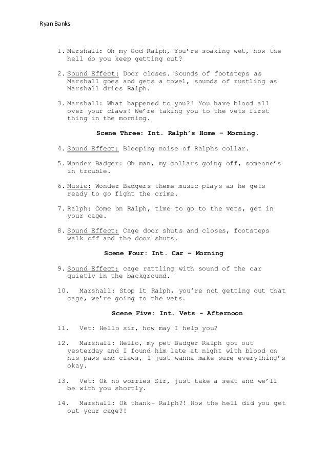 Script- Wonder Badger