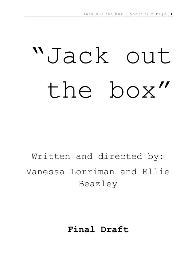 """Jack out the box – Short film Page 