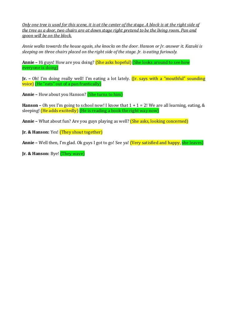 Script for Drama