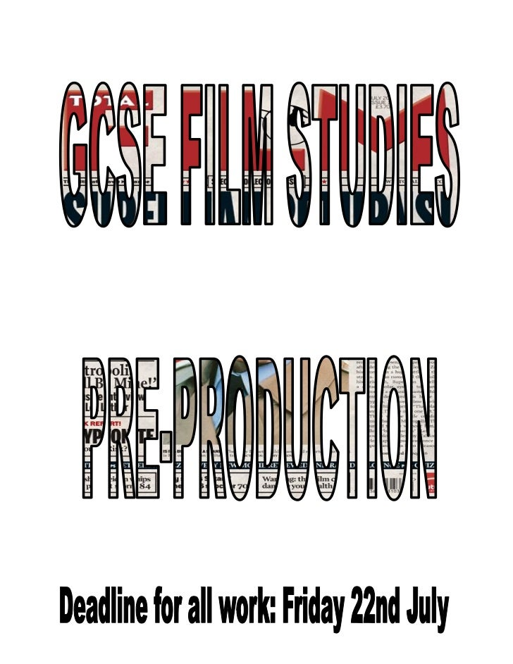 As part of your coursework you are required to produce 1 piece of pre-productionwork, to allow you the best chance of gett...