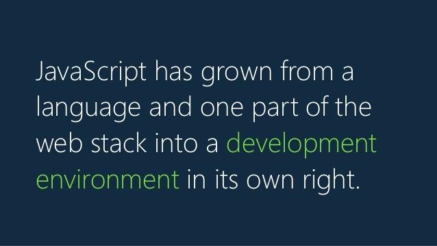JavaScript is a buffet - Scriptconf 2017 keynote Slide 3