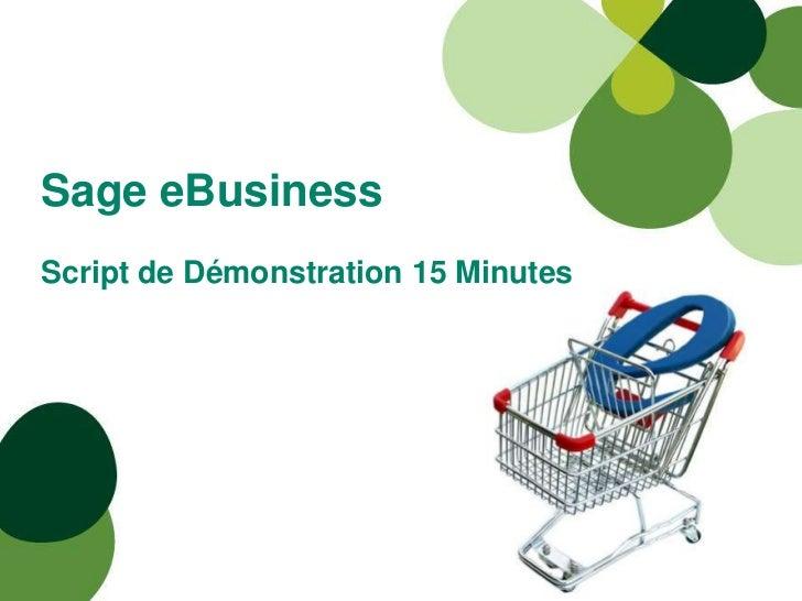 Sage eBusinessScript de Démonstration 15 Minutes<br />