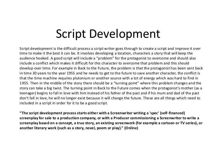 script development 2