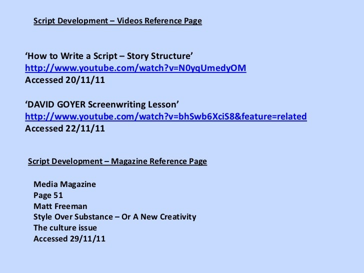 Script development and commissioning pp