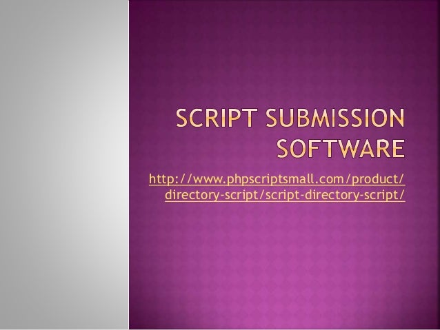 http://www.phpscriptsmall.com/product/ directory-script/script-directory-script/