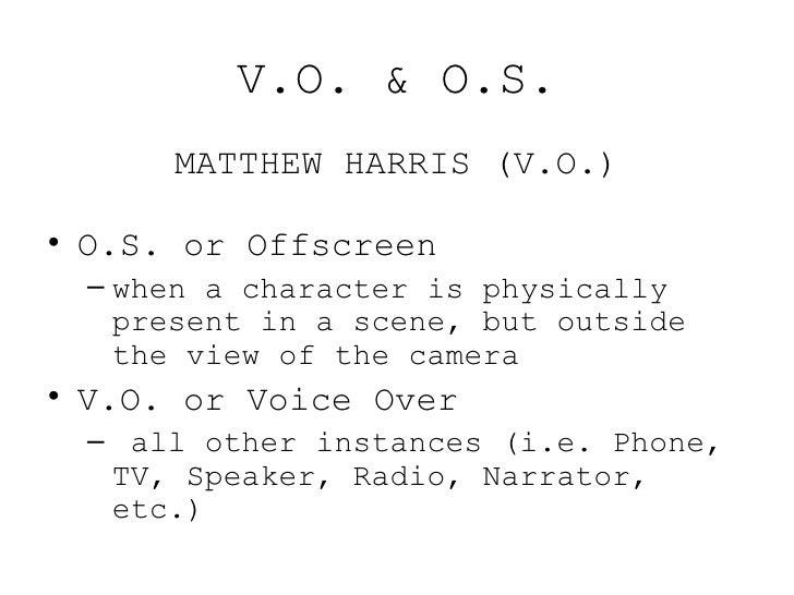 script format cheat sheet