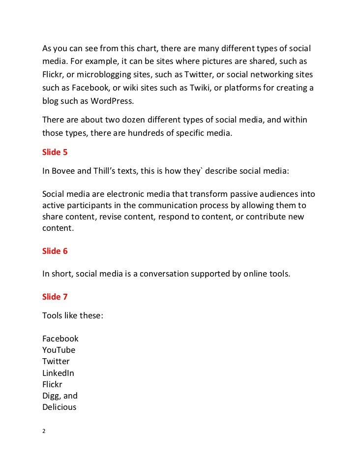 Script for Social Media and Electronic Communication--Classroom Edition Slide 2