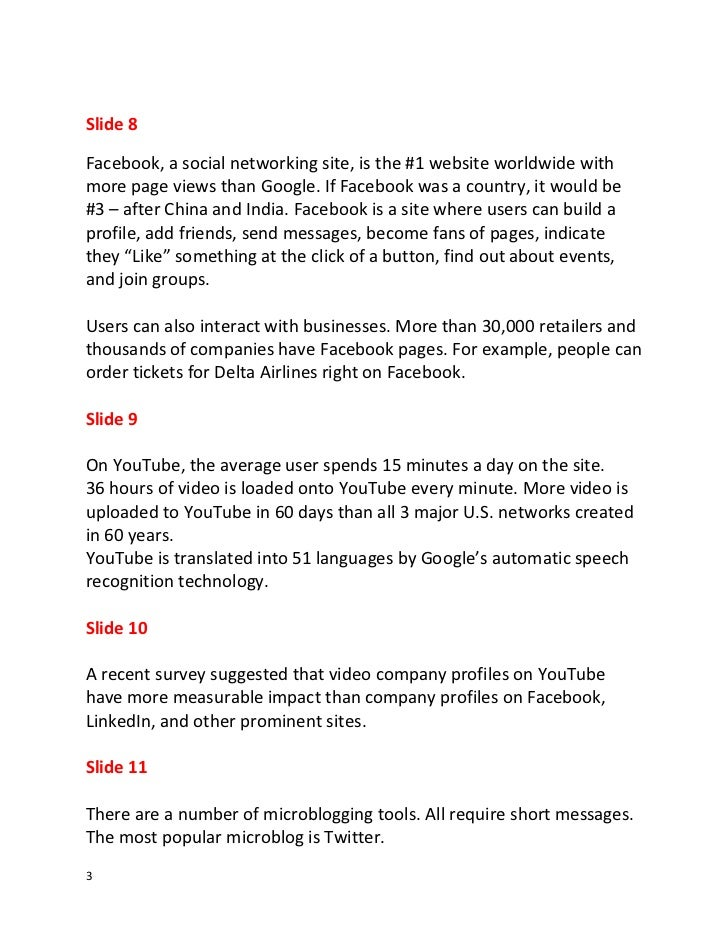 Script for Social Media and Electronic Communication--Classroom Edition Slide 3