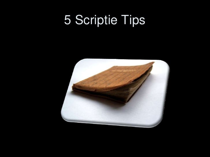5 Scriptie Tips