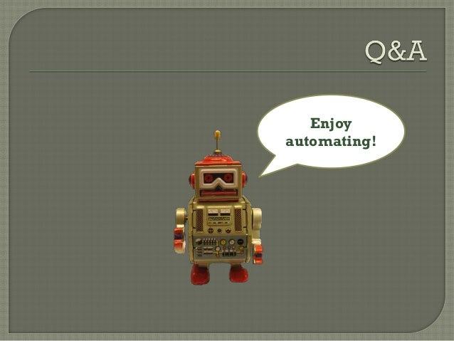 Scripting robot