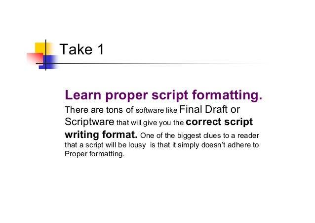 scripting to win