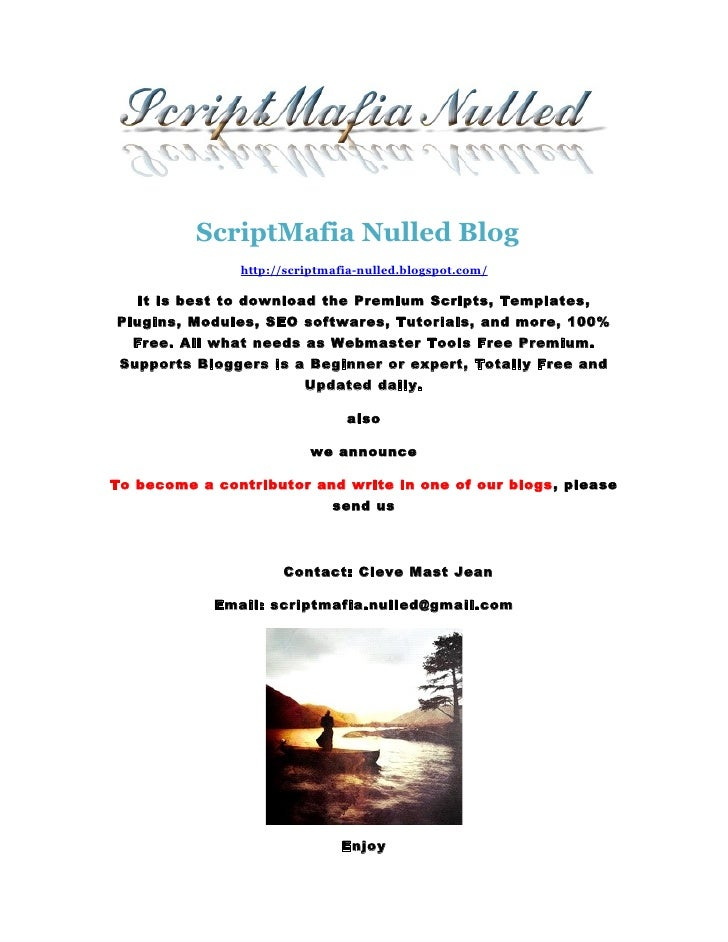Scriptmafia nulled blog for Scriptmafia
