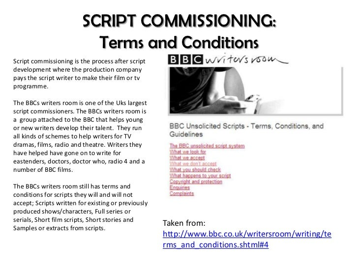 Scriptwriting Development And Commissioning