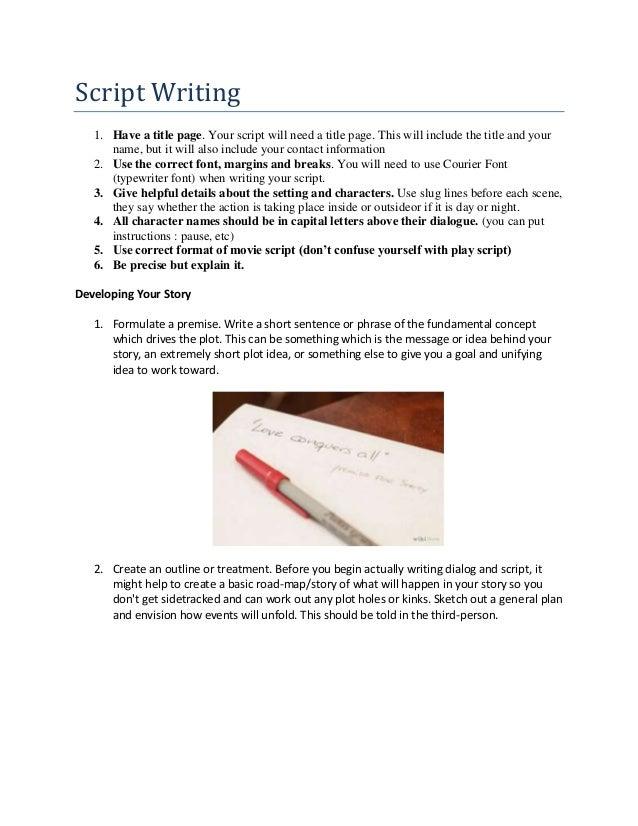 Script Writing Handout