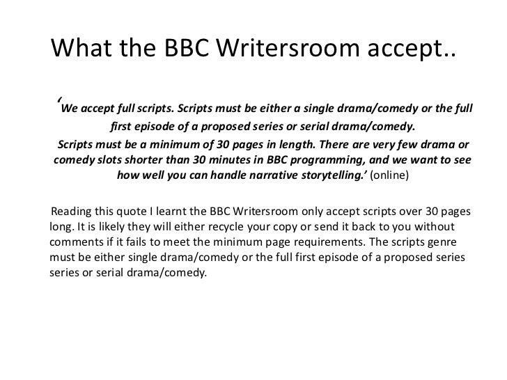 Scriptwriting powerpoint