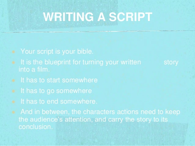 how to start writing a movie script